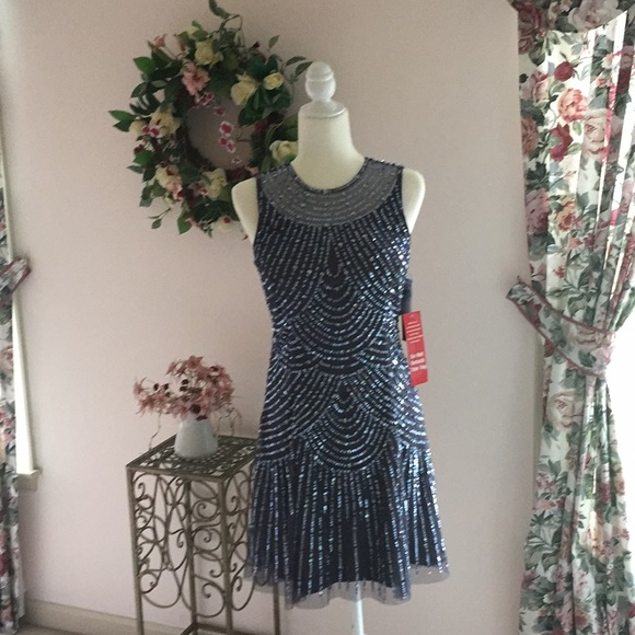 491b8e76215d8 Aidan Mattox Sequin Mini Dress